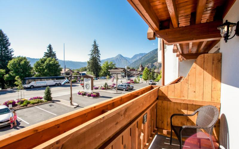 Great views from the balconies at the Bavarian Lodge in Leavenworth Washington